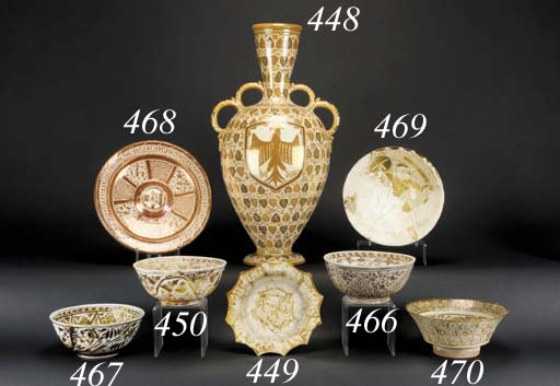 A Safavid brown and cream glazed lustre bowl