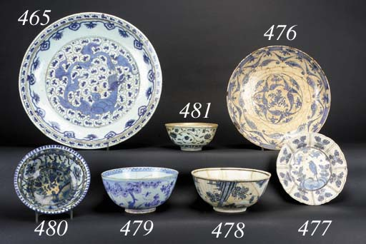 A Safavid blue and white bowl