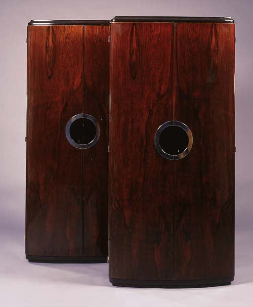 A PAIR OF ROSEWOOD CABINETS