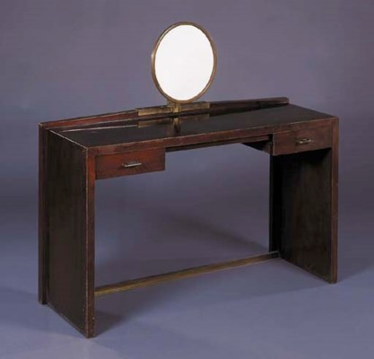 A MAHOGANY DRESSING TABLE AND