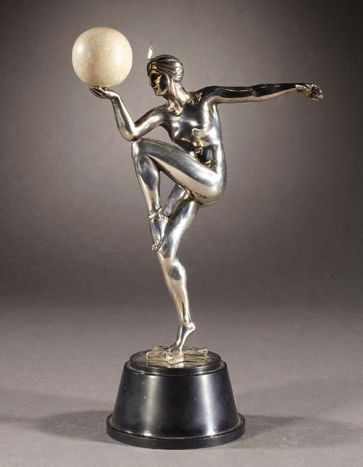 'STELLA' A SILVERED BRONZE AND