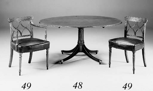 A mahogany oval breakfast table, 19th century and later