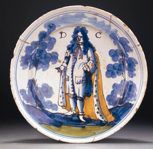 A London delft portrait charge