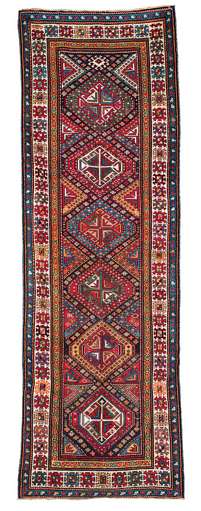 An antique Kuba-Shirvan runner