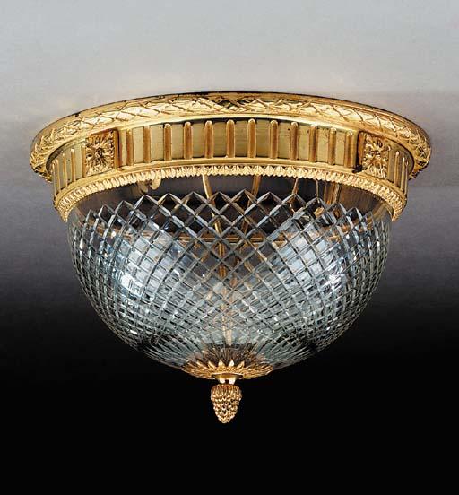 A gilt bronze mounted plafonni