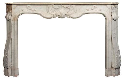A large Louis XV style white m