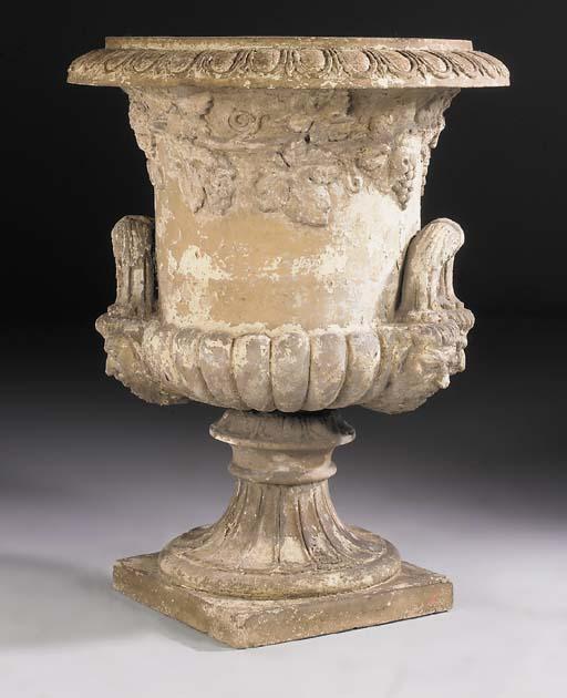 A large terracotta campana urn