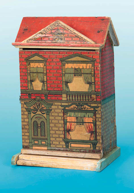 A small chromolithgraph on wood dolls' house