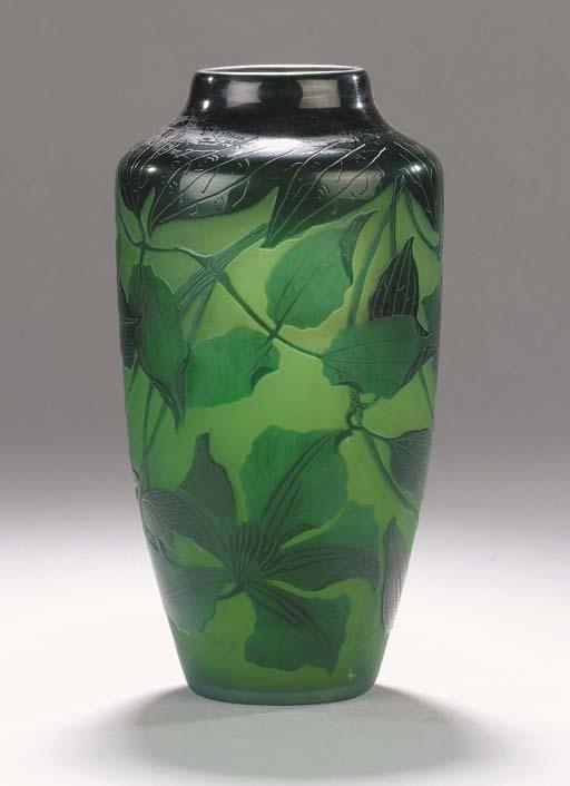 A D'Argental cameo glass vase
