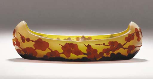 A Gallé cameo glass bowl,