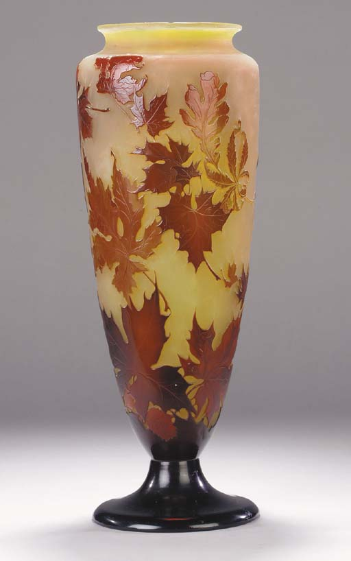 A large Gallé cameo glass vase