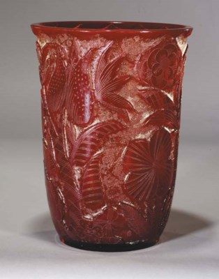 A Moser carved and acid-etched