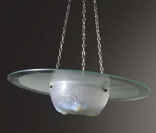 A glass plafonnier