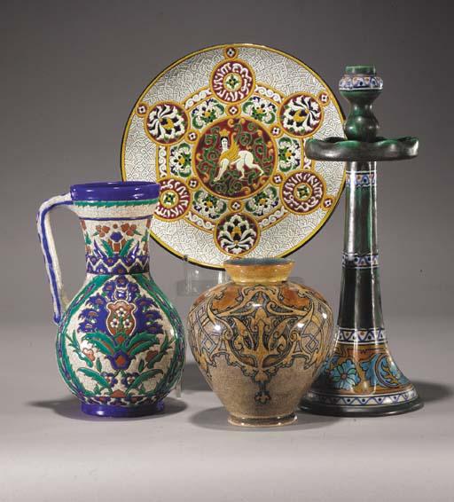 A Belgian ceramic vase