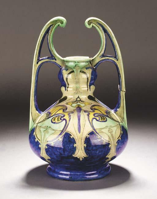 A Dutch Art Nouveau ceramic va