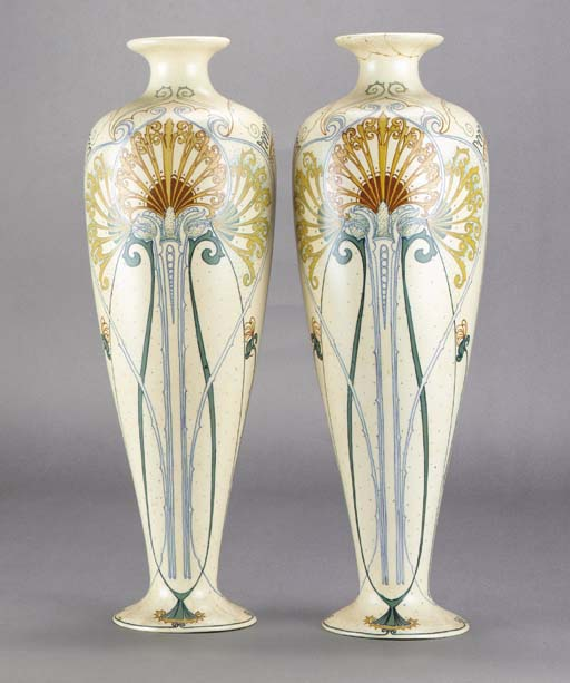 A pair of Arnhem ceramic vases