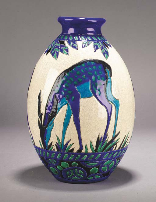 A Keramis ceramic vase