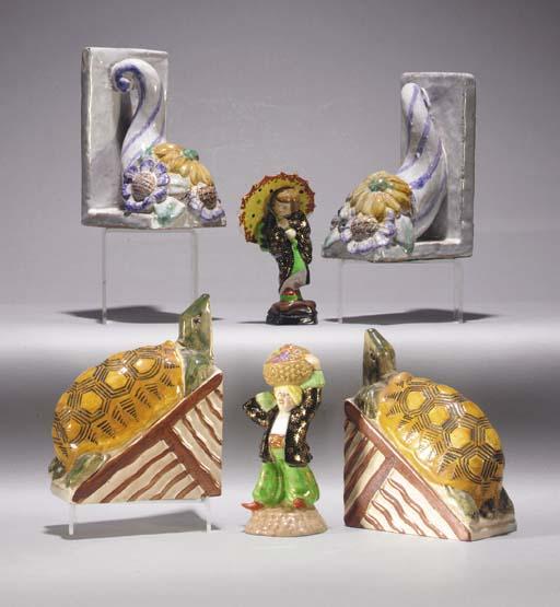 A pair of Carl Kahl ceramic bo