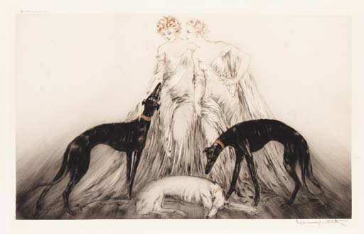 'Coursing III' by Louis Icart
