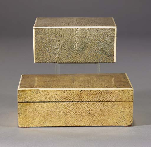 Two shagreen boxes