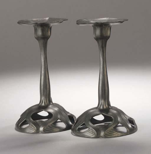 A pair of 'Orivit' Art Nouveau