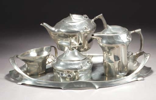 A Kayserzinn pewter tea servic