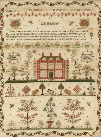 A sampler by Charlotte Hannell