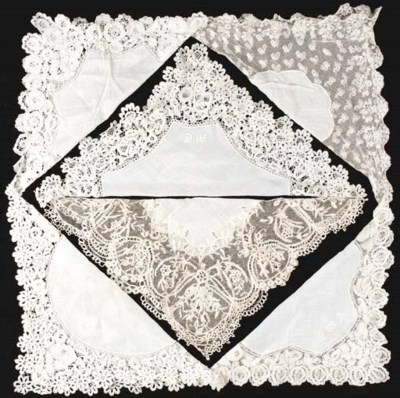 A handkerchief, with a border