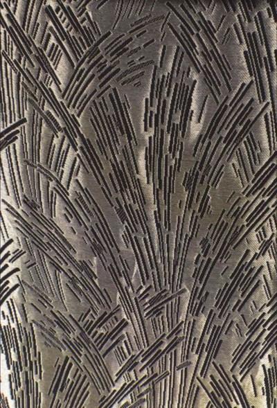 A length of black silk, heavil