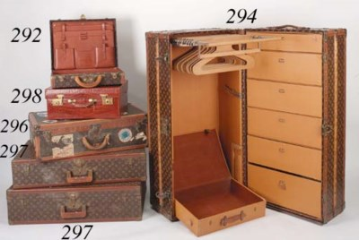 A dressing case of brown croco