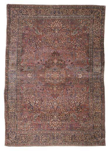 A fine Kurk Kashan carpet