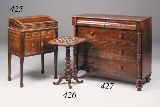 An early Victorian mahogany chest