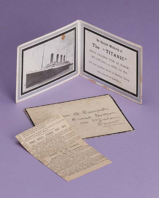 A Titanic memoriam card