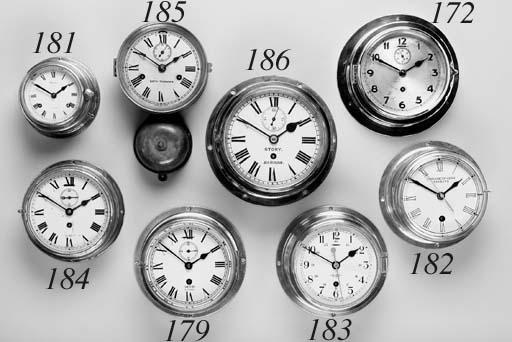 A ship's bulkhead clock