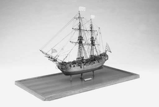 A detailed planked and rigged
