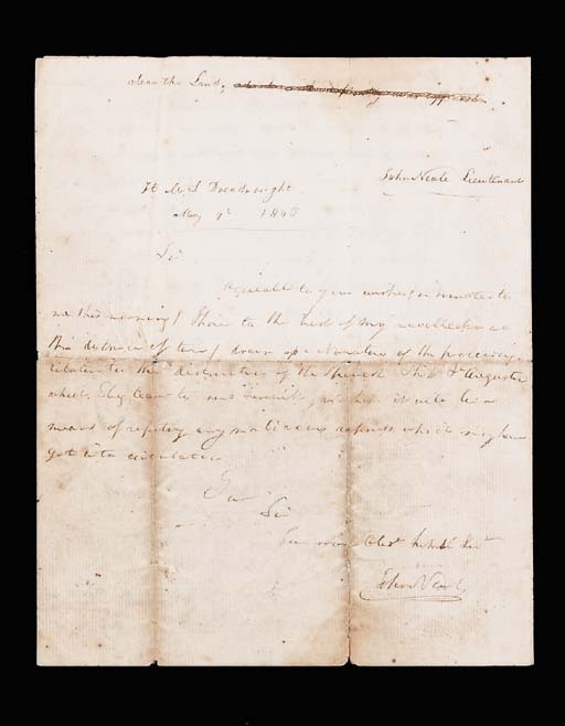 Battle of Trafalgar: an autogr
