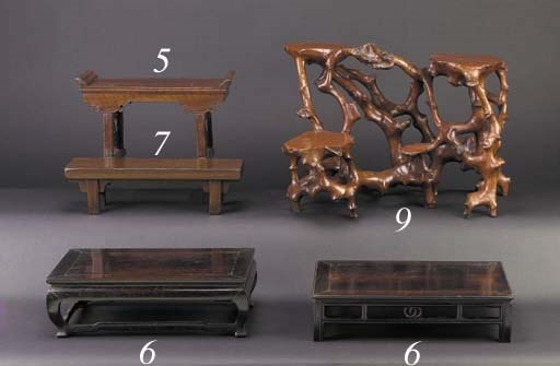 A Chinese root wood stand 19th