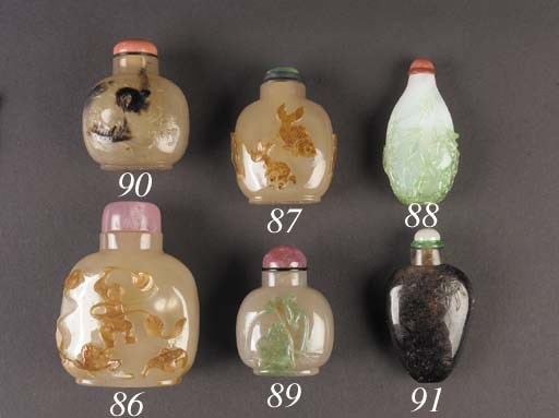 An agate snuff bottle 19th Cen