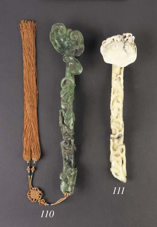 A jade ruyi sceptre 18th Centu