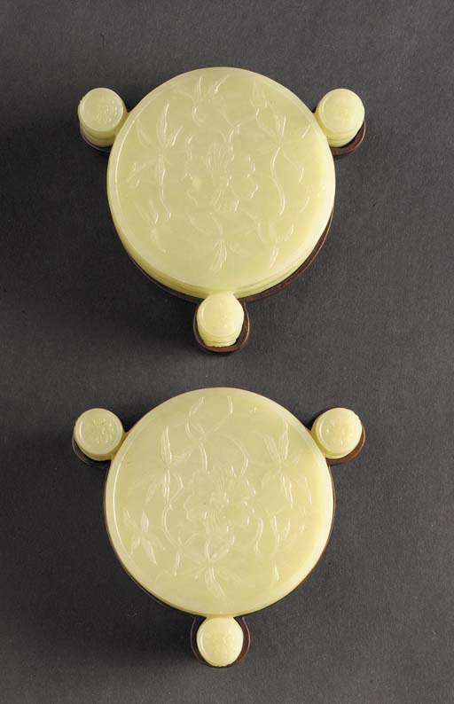 A pair of Mughal-style celadon
