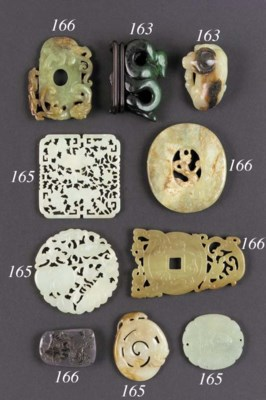 A yellow jade plaque 17th Cent