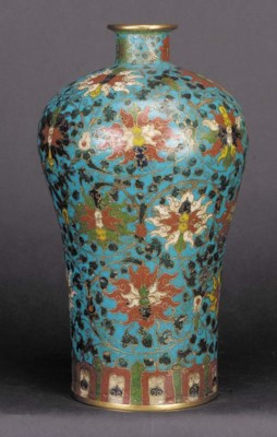 A Ming cloisonne meiping 16/17
