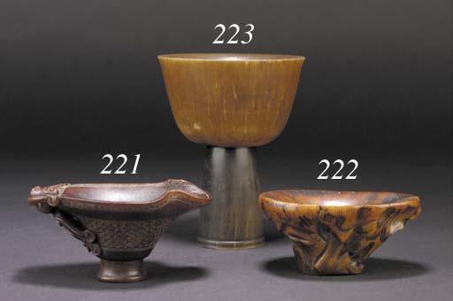 A rhinoceros horn stem cup 19/