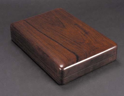 A Hongmu rectangular inkstone