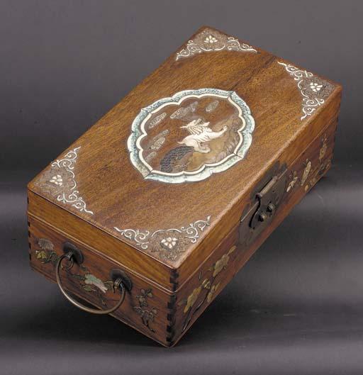 A rectangular huang huali box