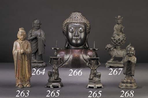 A late Ming bronze head of Bud