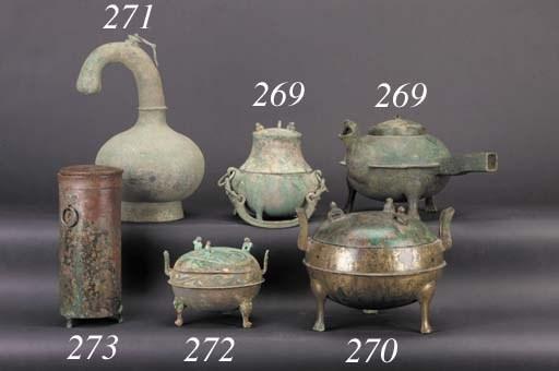 A bronze ding Han Dynasty