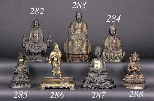 A Sino-Tibetan seated bronze B