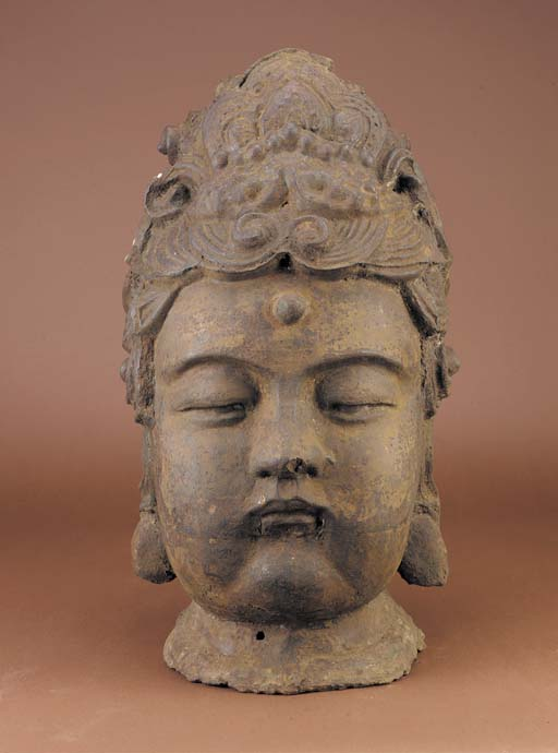 A massive late Ming iron head