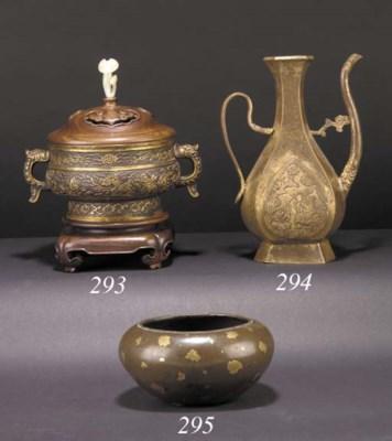 A Hu Wenming gilt bronze cense